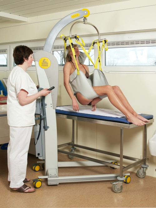 SureHands - Mobile lift 2600 (Victor) , Bathing sling , Bathing sling with head support