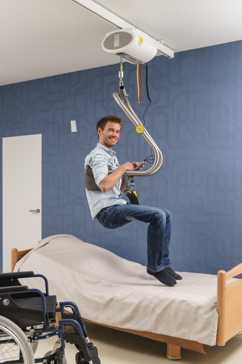 SureHands -  - Self-transferring from wheelchair to bed - SureHands® Body Support , Ceiling motor