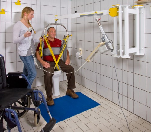 SureHands - Wall-to-Wall™ lift systems - Adequate lifting range - Standard spreader bar , Wall-to-Wall™ lift systems , Hygiene sling