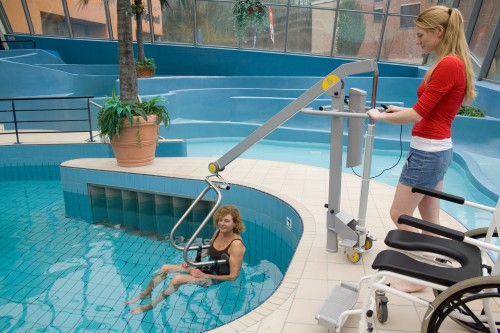 Wheelchair-to-Water™ Pool Lift, Pool lifts