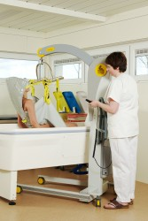 Mobile lift 2600 (Victor) , Bathing sling , Bathing sling with head support