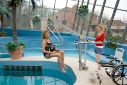 Wheelchair-to-Water™ Pool Lift , SureHands® Body Support