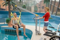 Classic spreader bar , Wheelchair-to-Water™ Pool Lift , Bathing sling