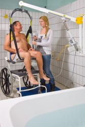 Classic spreader bar , Wall-to-Wall™ lift systems , Seat sling PVC